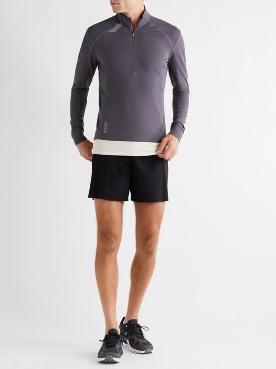 Soar Running Mid-Temperature 3.0 Stretch-Jersey Half-Zip Top