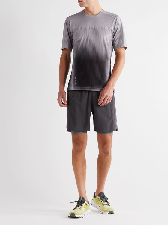 Soar Running Hot Weather Slim-Fit Mesh and Jersey T-Shirt