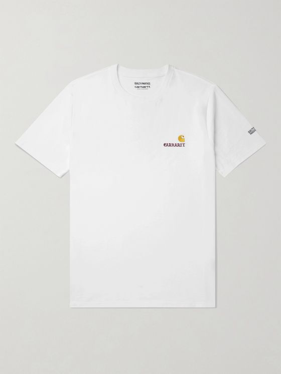 CARHARTT WIP + Wacko Maria Logo-Embroidered Cotton-Jersey T-Shirt