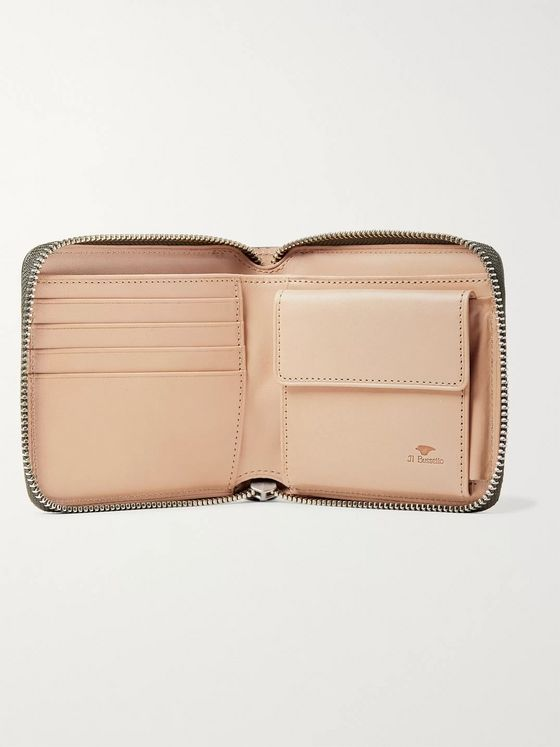Il Bussetto Polished-Leather Zip-Around Wallet