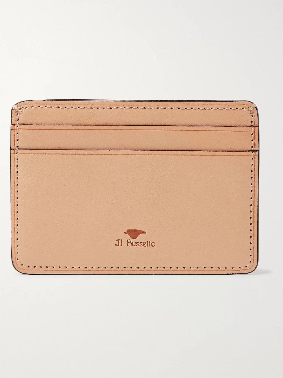 Il Bussetto Polished-leather Cardholder In Orange