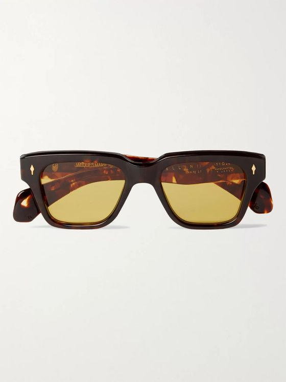 Jacques Marie Mage Fellini Square-Frame Tortoiseshell Acetate Sunglasses