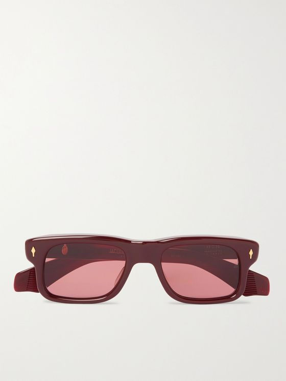 Jacques Marie Mage Saint Square-Frame Acetate Sunglasses
