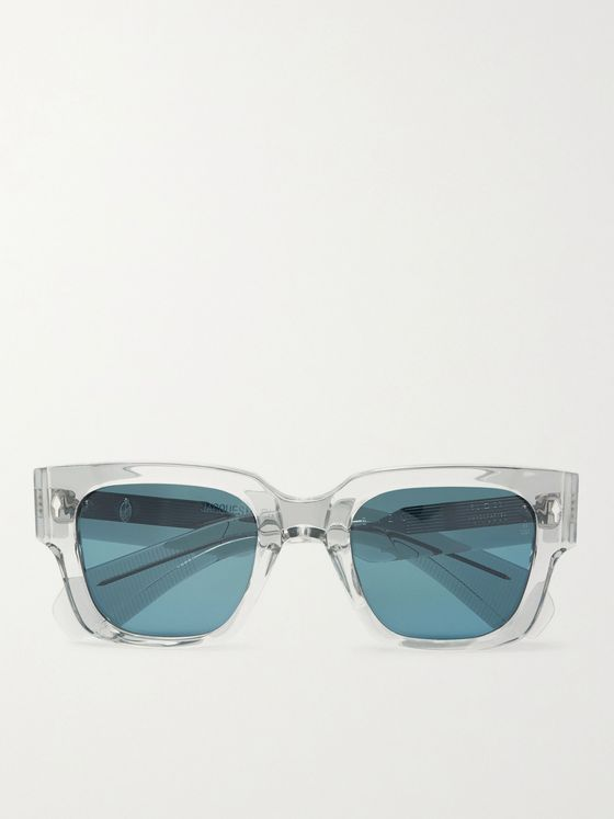 JACQUES MARIE MAGE Enzo Square-Frame Acetate Sunglasses