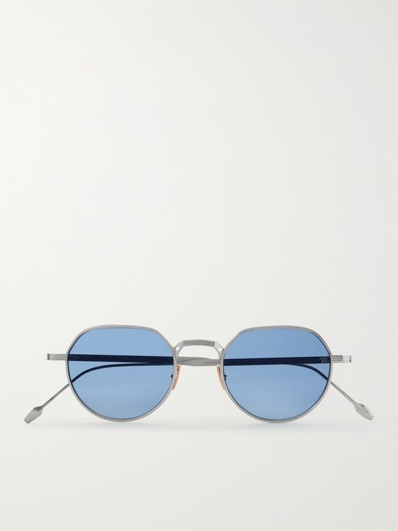 JACQUES MARIE MAGE Fontana Round-Frame Silver-Tone Sunglasses