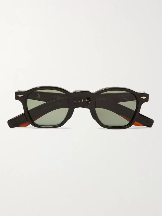 JACQUES MARIE MAGE Zephirin Round-Frame Acetate Sunglasses