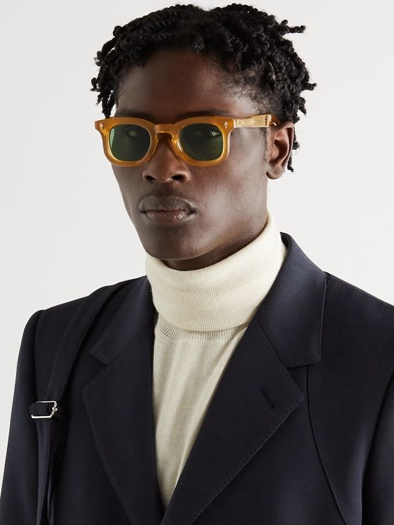 JACQUES MARIE MAGE Loewy Round-Frame Acetate Sunglasses
