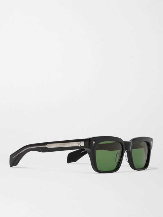 Jacques Marie Mage Square-Frame Acetate Sunglasses