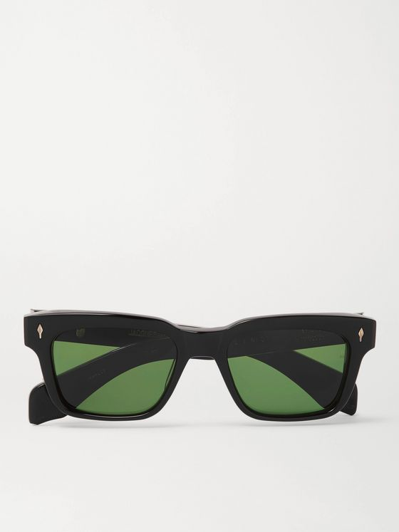 JACQUES MARIE MAGE Molino Square-Frame Acetate Sunglasses