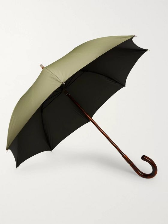 Francesco Maglia Tiger Maple Wood-Handle Umbrella