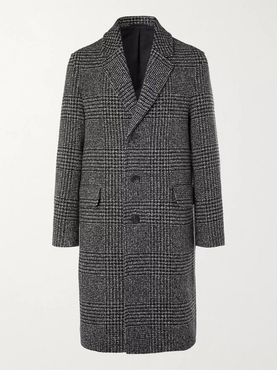 MR P. Prince of Wales Checked Virgin Wool-Blend Overcoat