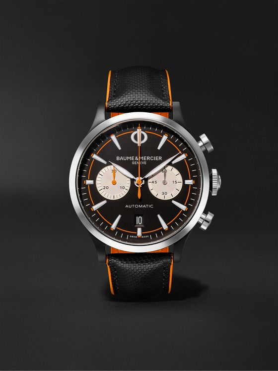 BAUME & MERCIER Capeland Automatic Chronograph 42mm Stainless Steel and Leather Watch, Ref. No. M0A10451
