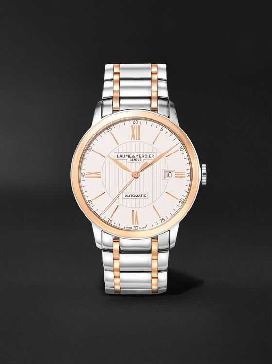 Baume & Mercier Classima Automatic 40mm Stainless Steel and Rose Gold-Plated Watch, Ref. No. M0A10217
