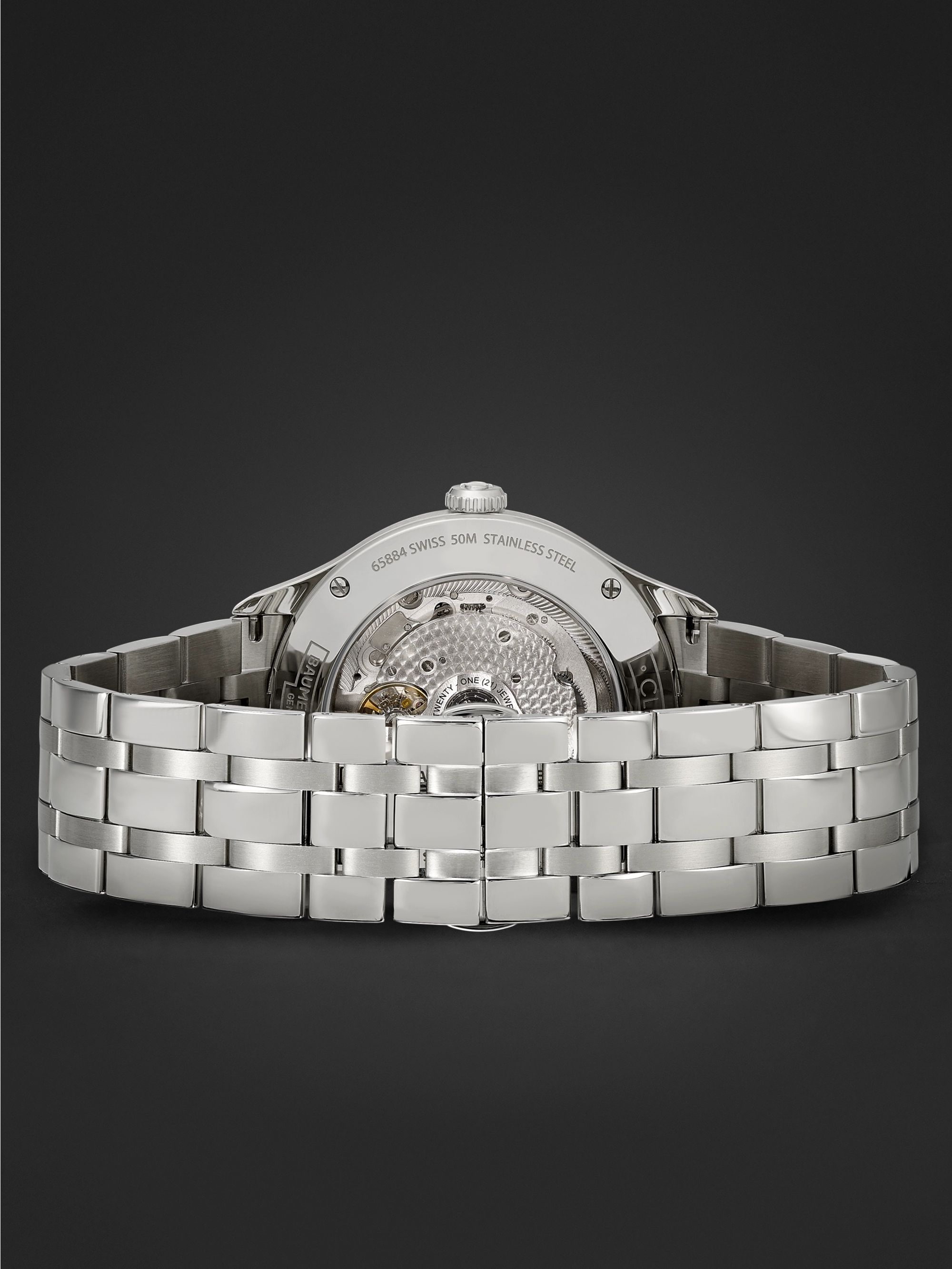 Baume & Mercier Clifton Baumatic Automatic Chronometer 40mm Stainless Steel Watch, Ref. No. M0A10505