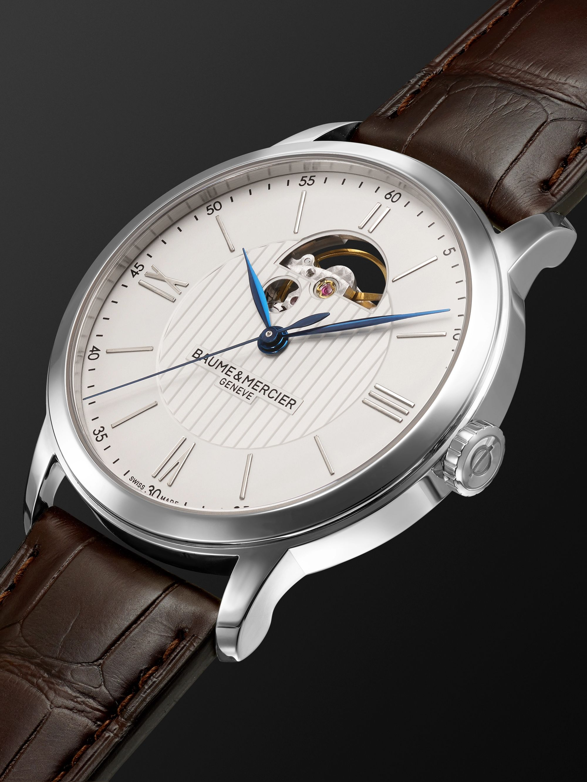 Baume & Mercier Classima Automatic 42mm Stainless Steel and Alligator Watch, Ref. No. MOA10524