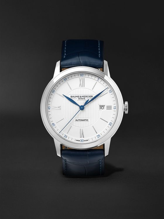 Baume & Mercier Classima Automatic 42mm Stainless Steel and Alligator Watch, Ref. No. 10333