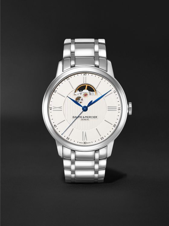Baume & Mercier Classima Automatic Open Balance 42mm Stainless Steel Watch, Ref. No. MOA10525