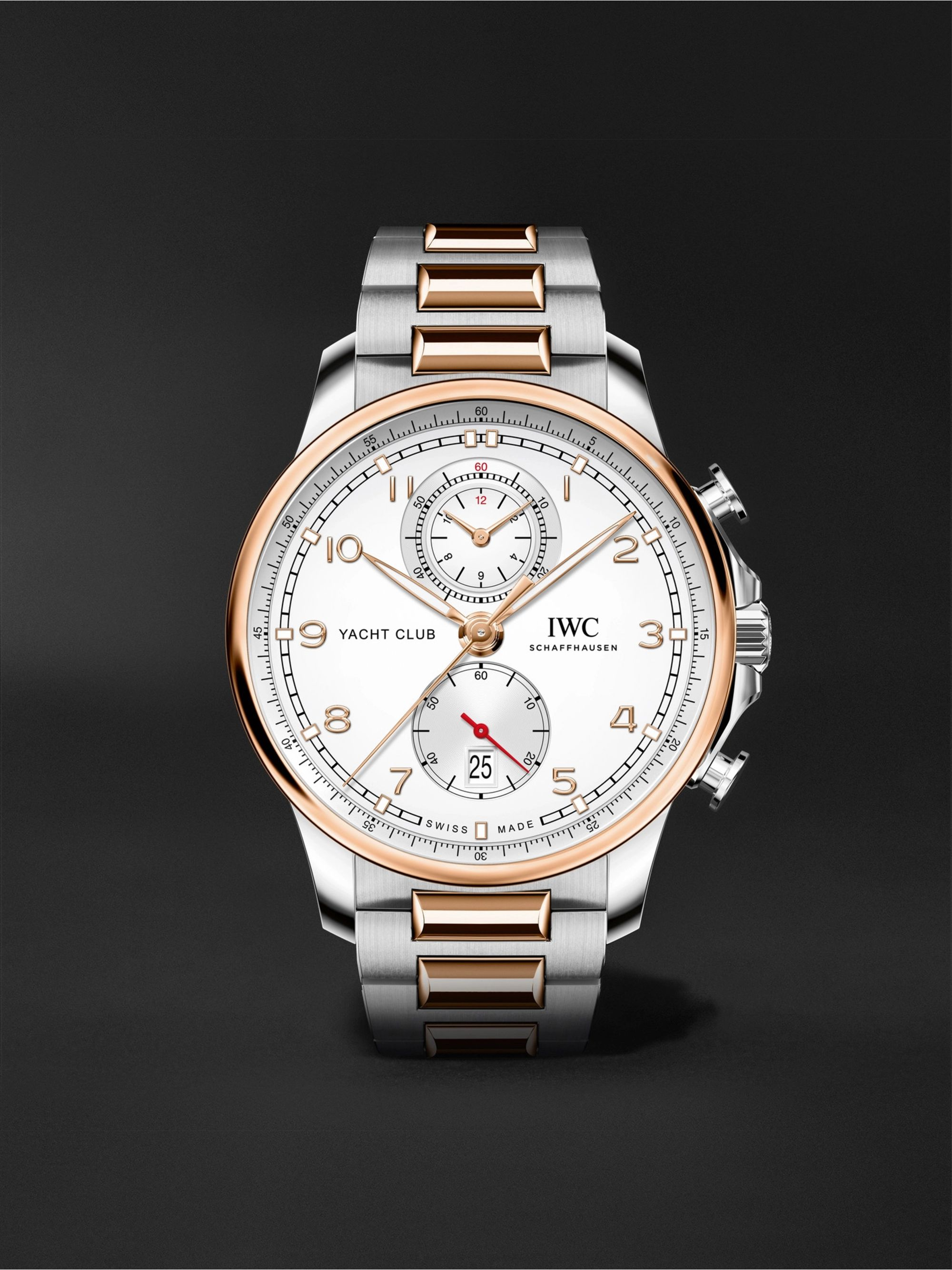IWC SCHAFFHAUSEN Portugieser Yacht Club Automatic Chronograph 44.6mm 18-Karat Red Gold and Stainless Steel Watch, Ref. No. IW390703