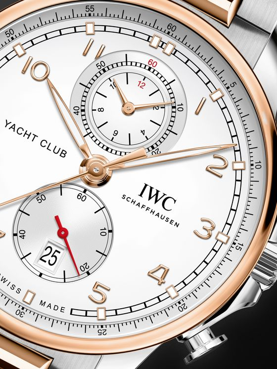 IWC SCHAFFHAUSEN Portugieser Yacht Club Automatic Chronograph 44.6mm 18-Karat Gold and Stainless Steel Watch, Ref. No. IW390703