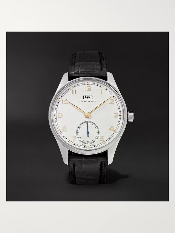 IWC SCHAFFHAUSEN Portugieser Automatic 40.4mm Stainless Steel and Alligator Watch, Ref. No. IW358303