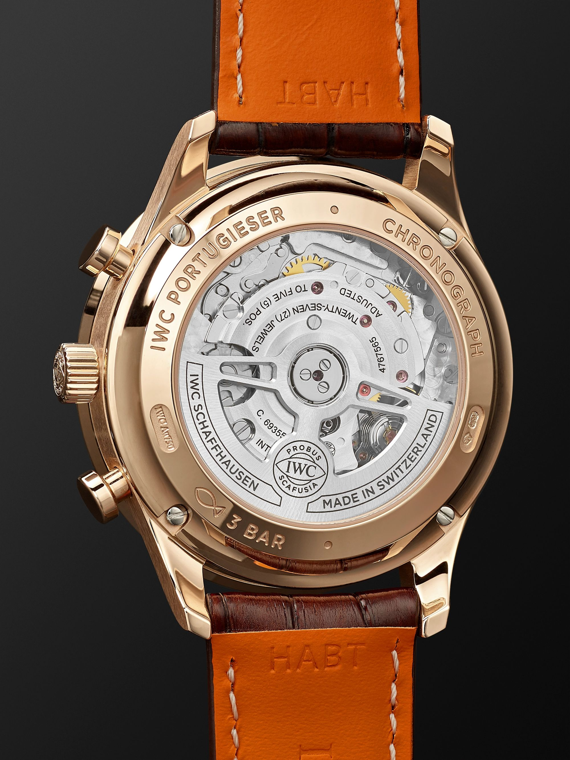 IWC SCHAFFHAUSEN Portugieser Automatic Chronograph 41mm 18-Karat Red Gold and Alligator Watch, Ref. No. IW371611