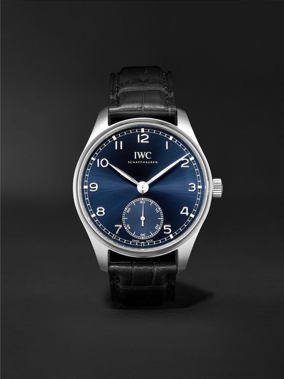 IWC SCHAFFHAUSEN Portugieser Automatic 40.4mm Stainless Steel and Alligator Watch, Ref. No. IW358305