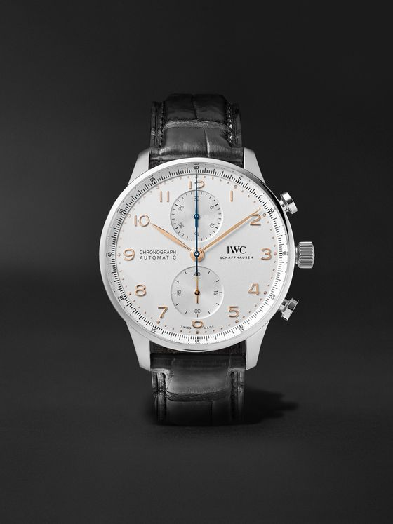 IWC SCHAFFHAUSEN Portugieser Automatic Chronograph 41mm Stainless Steel and Alligator Watch, Ref. No. IW371604