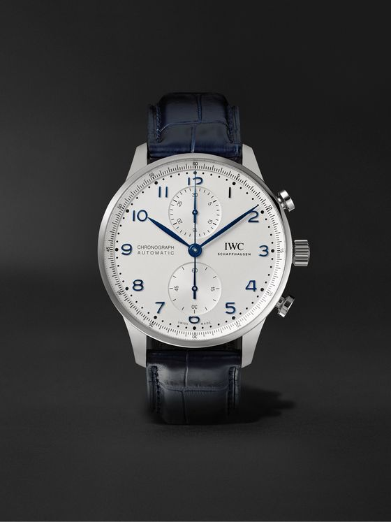 IWC SCHAFFHAUSEN Portugieser Automatic Chronograph 41mm Stainless Steel and Alligator Watch, Ref. No. IW371605