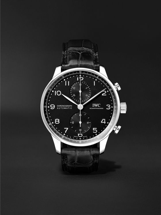 IWC SCHAFFHAUSEN Portugieser Automatic Chronograph 41mm Stainless Steel and Alligator Watch, Ref. No. IW371609