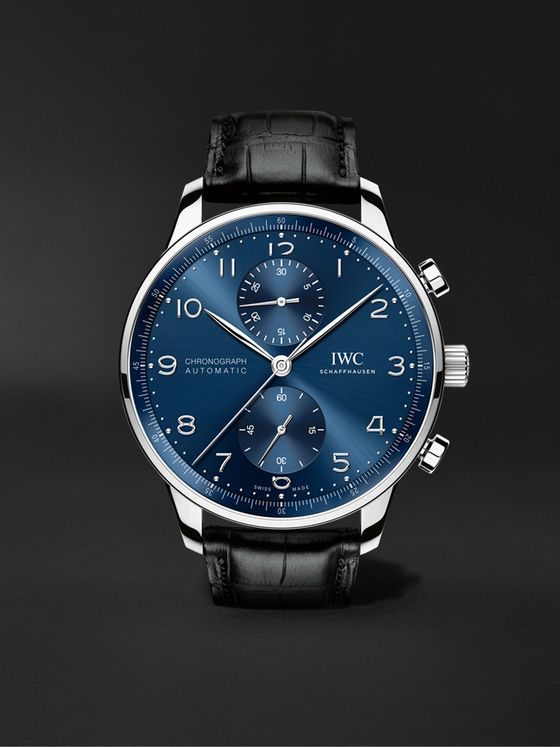 IWC SCHAFFHAUSEN Portugieser Automatic Chronograph 41mm Stainless Steel and Alligator Watch, Ref. No. IW371606