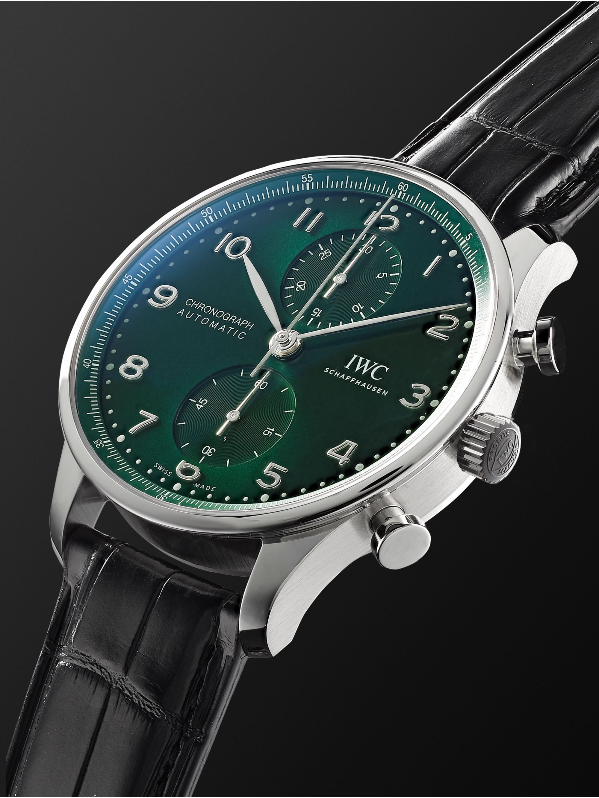 IWC SCHAFFHAUSEN Portugieser Automatic Chronograph 41mm Stainless Steel and Alligator Watch, Ref. No. IW371615