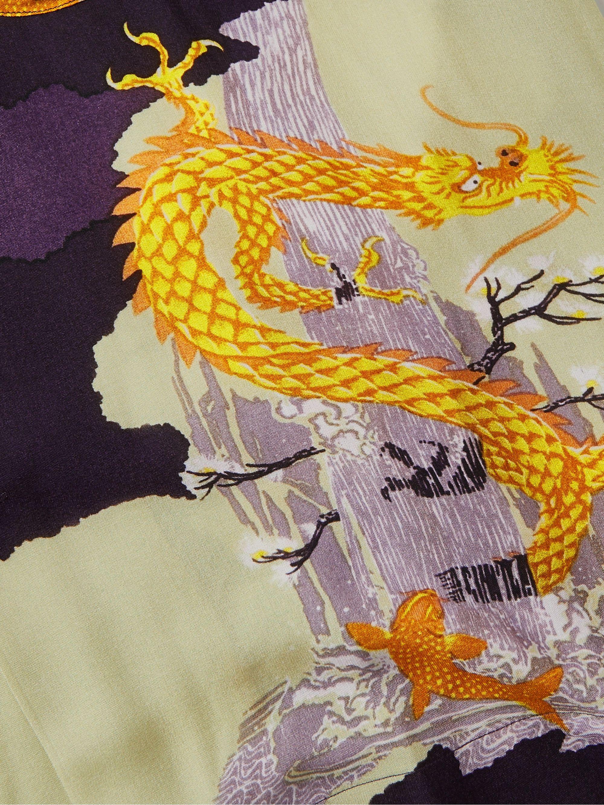 Purple Camp-collar Printed Woven Shirt | Bellerose