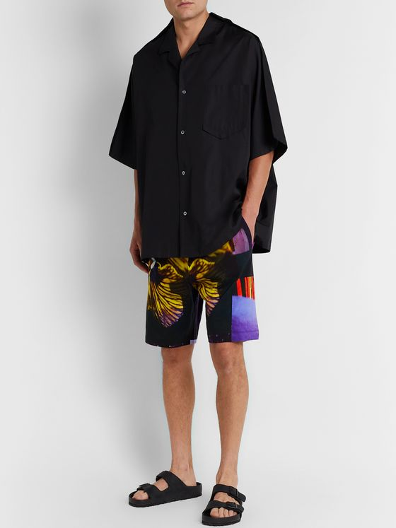 Dries Van Noten Floral-Print Cotton-Jersey Drawstring Shorts
