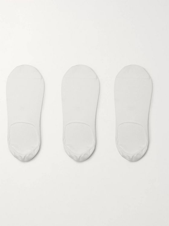 CDLP Three-Pack Stretch Bamboo-Blend No-Show Socks