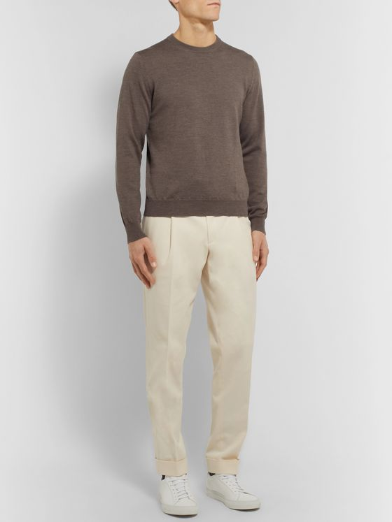Saman Amel Slim-Fit Merino Wool Sweater