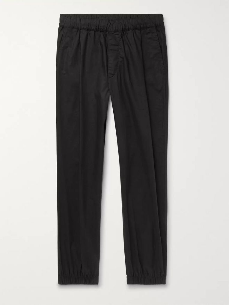 McQ Alexander McQueen Tapered Pleated Cotton-Poplin Trousers