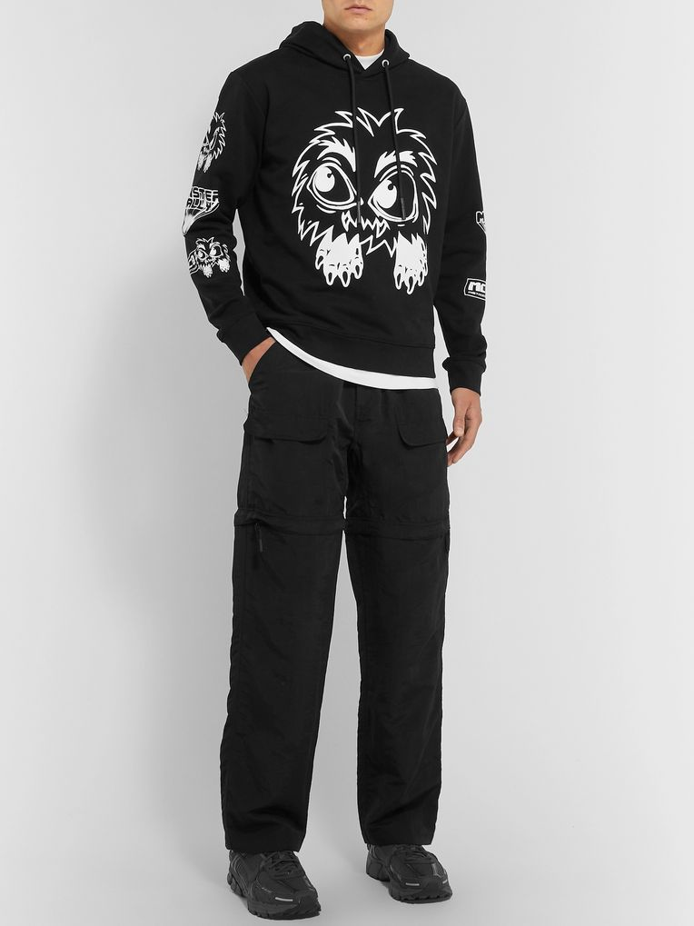 McQ Alexander McQueen Monster Rally Printed Loopback Cotton-Jersey Hoodie
