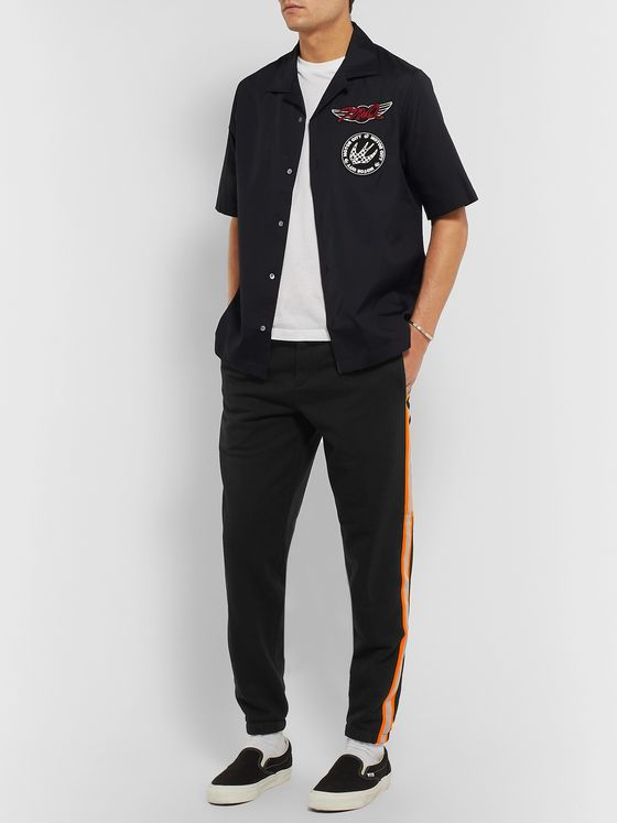 McQ Alexander McQueen Contrast-Trimmed Loopback Cotton-Blend Jersey Sweatpants