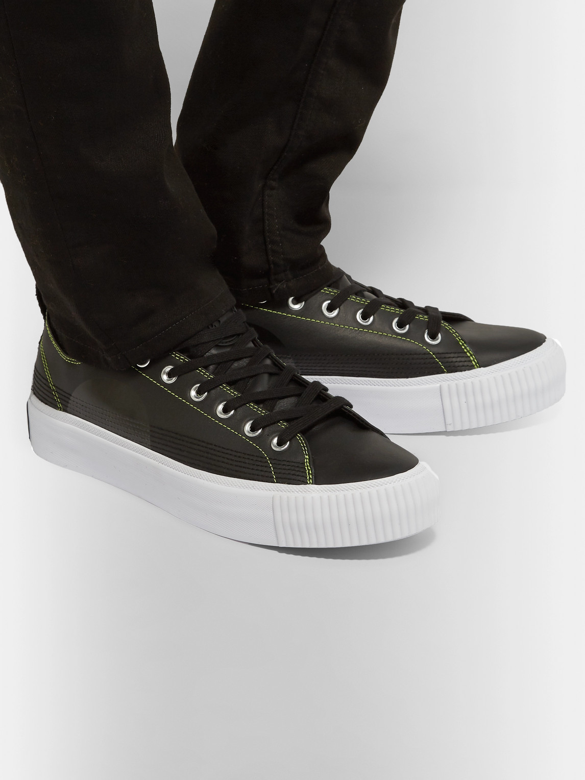 Mcq By Alexander Mcqueen Sneakers PLIMSOLL LEATHER SNEAKERS