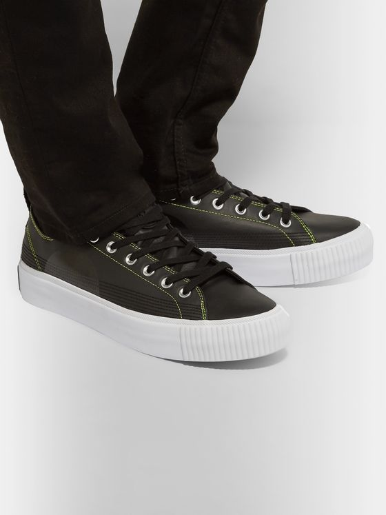 McQ Alexander McQueen Plimsoll Leather Sneakers