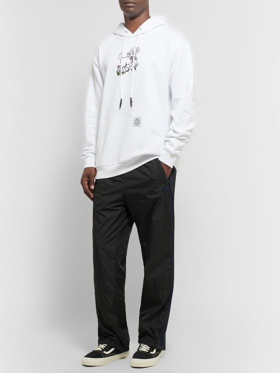McQ Alexander McQueen Printed Fleece-Back Cotton-Jersey Hoodie