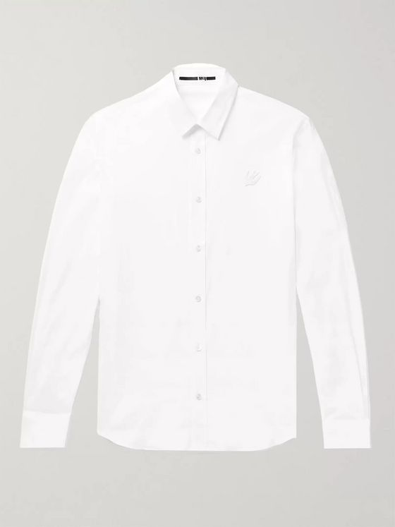 McQ Alexander McQueen Slim-Fit Stretch-Cotton Poplin Shirt