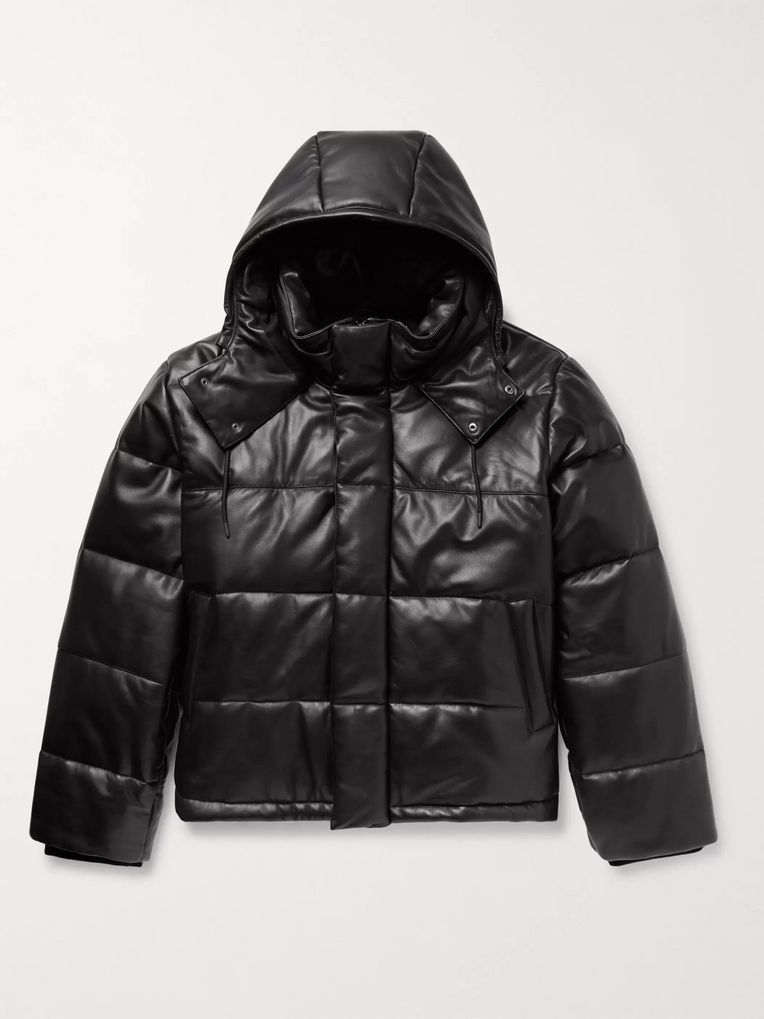 McQ Alexander McQueen Quilted Leather Hooded Jacket