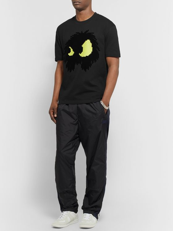 McQ Alexander McQueen Flocked Printed Cotton-Jersey T-Shirt