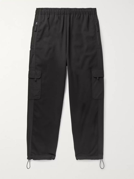 McQ Alexander McQueen Black Tech Wool-Blend Cargo Trousers