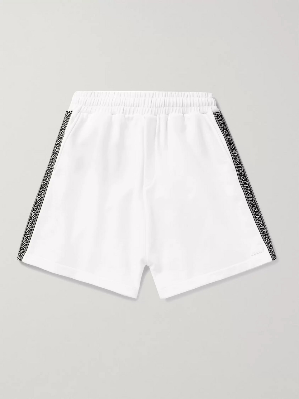 McQ Alexander McQueen Logo-Trimmed Loopback Cotton-Jersey Shorts