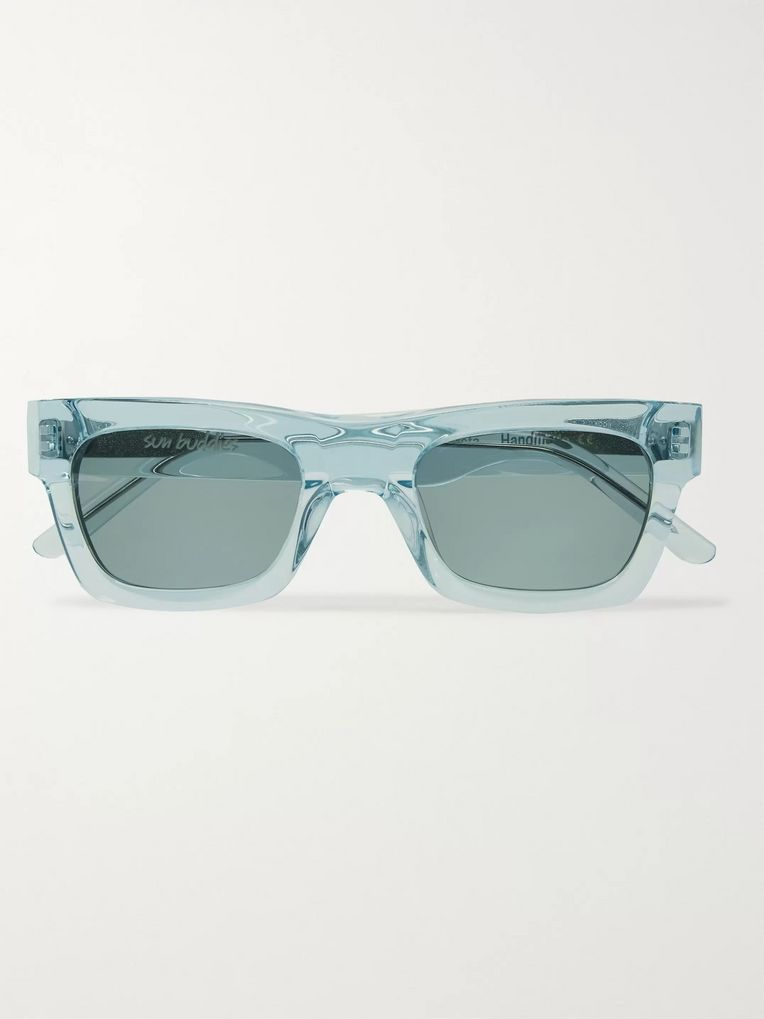 Sun Buddies Greta Square-Frame Acetate Sunglasses