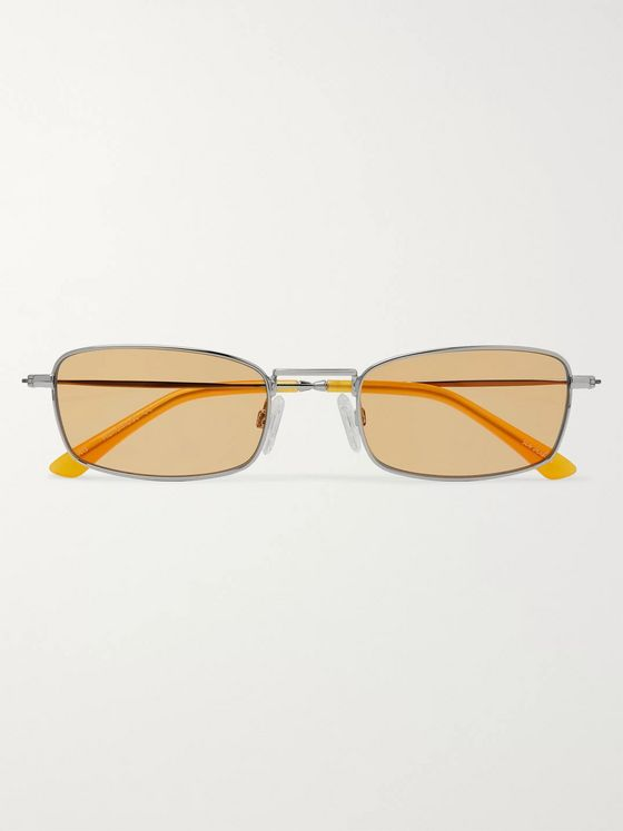 Sun Buddies E-40 Rectangle-Frame Stainless Steel and Acetate Sunglasses