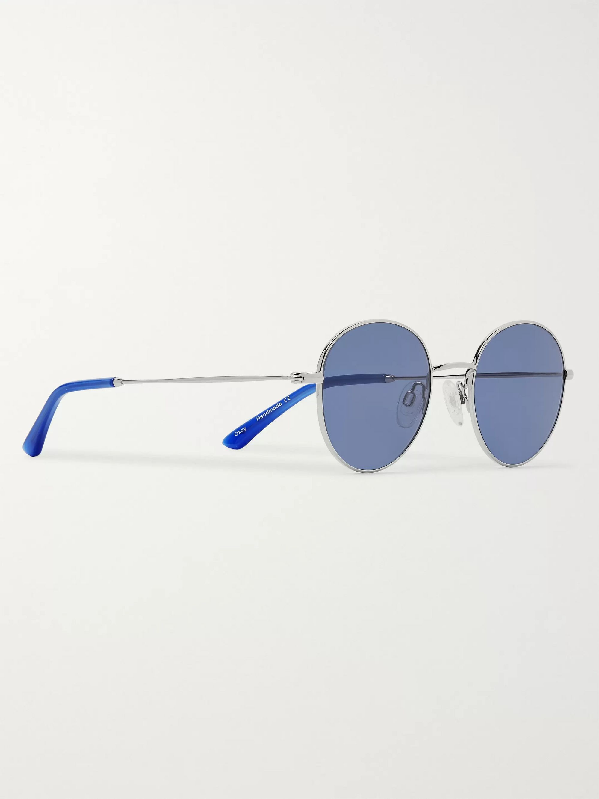 Sun Buddies Ozzy Round-Frame Stainless Steel and Acetate Sunglasses