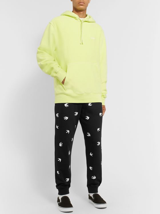McQ Alexander McQueen Embroidered Loopback Cotton and Modal-Blend Jersey Sweatpants